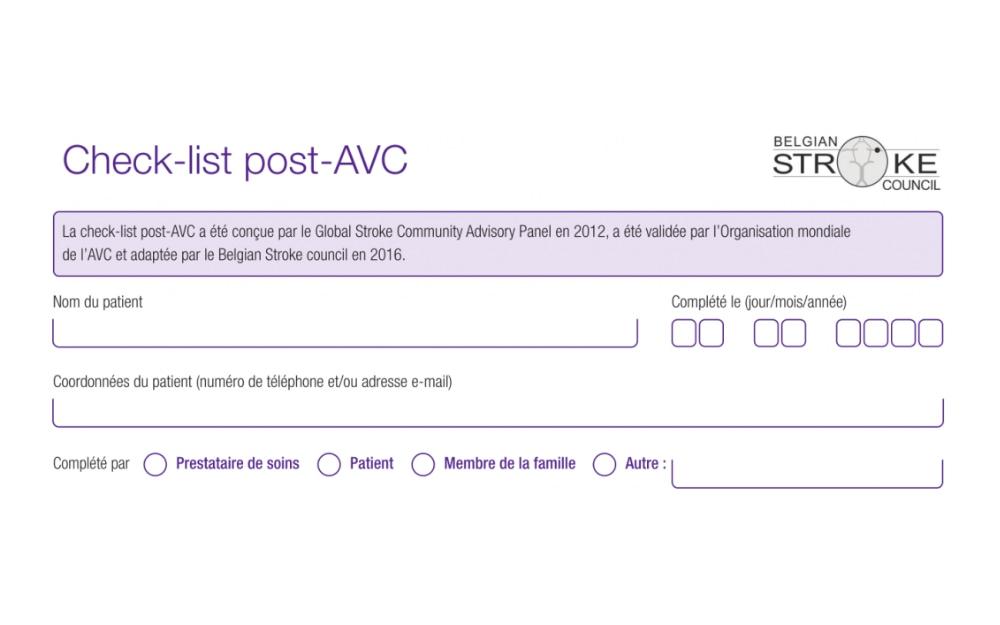 Check-list post-AVC.